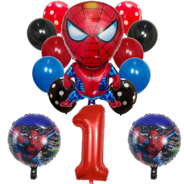 Set nafukovacích balónků s číslem a superhrdinou Spiderman 14 ks