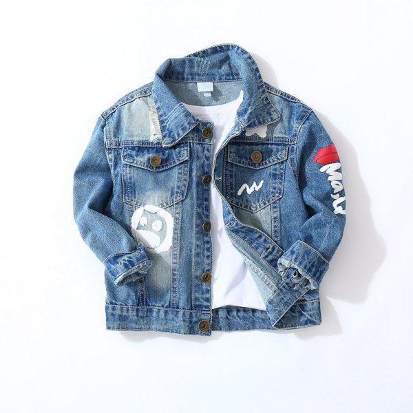 Chlapecká džínová stylová bunda