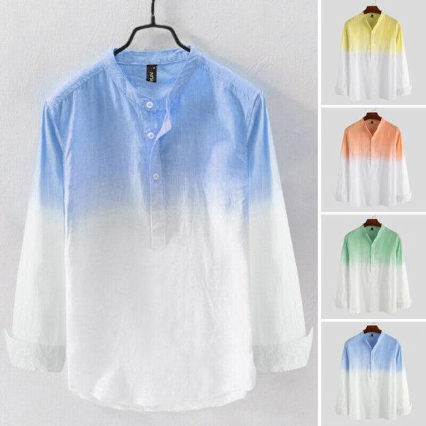 Pánská letní tenká ležérní košile