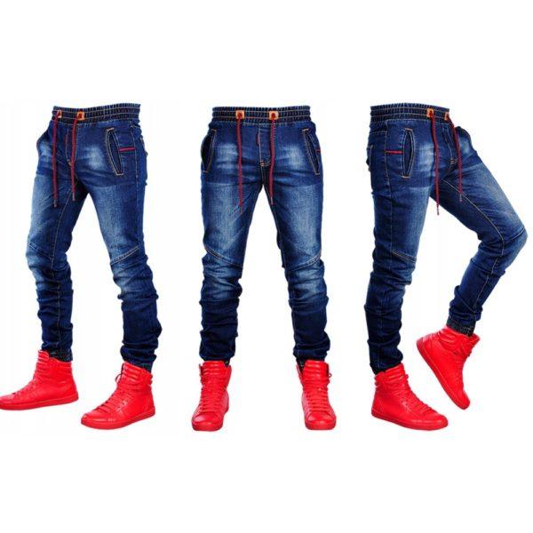 Pánské džíny s tkaničkou v pase Denim