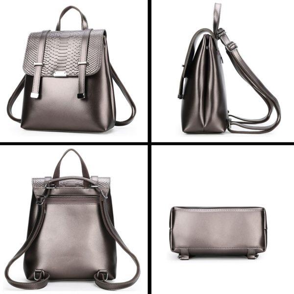 Dámský kožený elegantní batoh