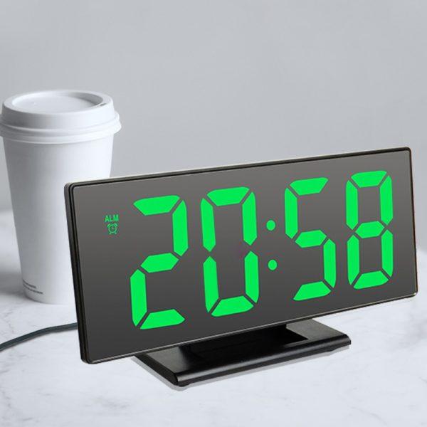 Multifunkční zrcadlové hodiny s budíkem a teploměrem