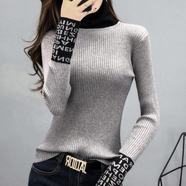 Dámský luxusní svetr ke krku Gizell