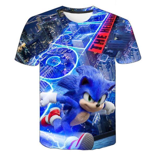 Chlapecké cool tričko s krátkým rukávem a potiskem Sonic