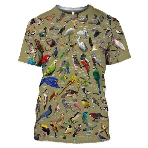 3D tričko s krátkým rukávem a potiskem zvířat