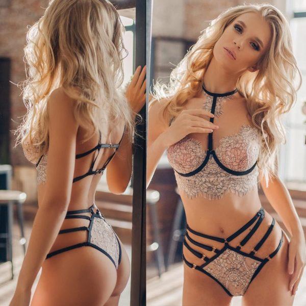 Dámské sexy spodní prádlo s krajkou Lovlea