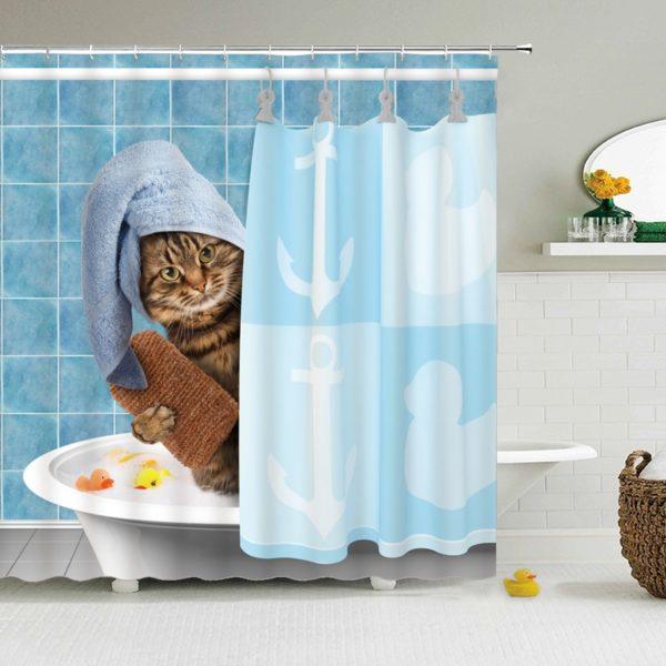 Zábavný závěs do koupelny