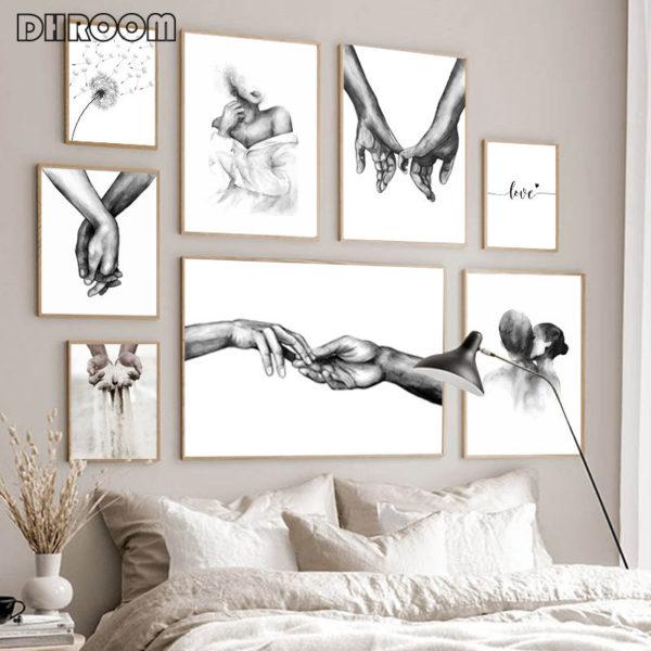 Romantický černobílý obraz