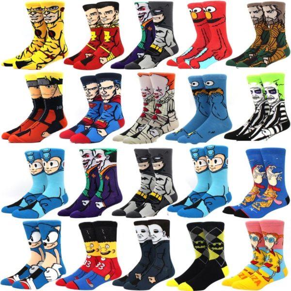 Modní ponožky kreslených a animovaných postaviček