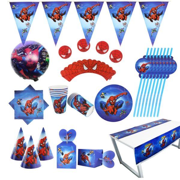 Spiderman stolovací papírové doplňky na oslavu