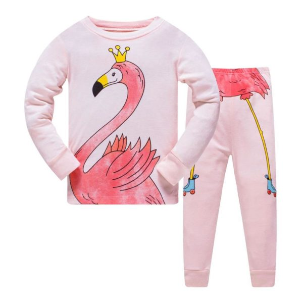 Dívčí roztomilý pyžamový bavlněný set