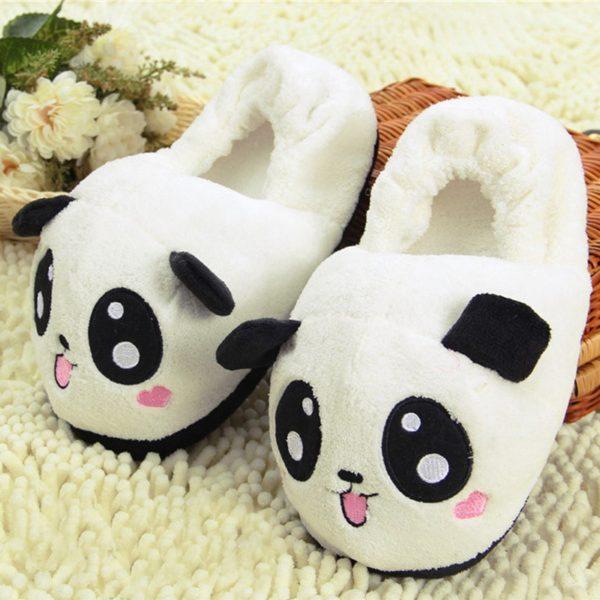 Dámské roztomilé domácí pantofle - panda