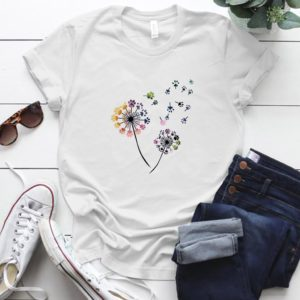 Dámské tričko s barevným potiskem pampelišky