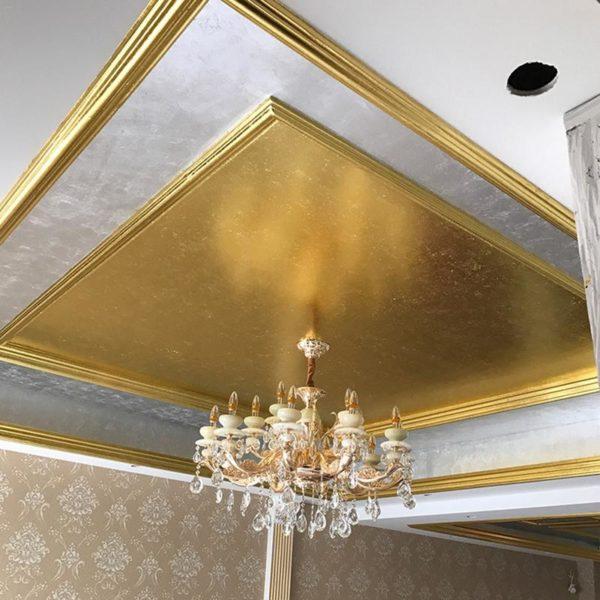 Zlaté listy pro zlacení dekorací v interiéru - 100 kusů