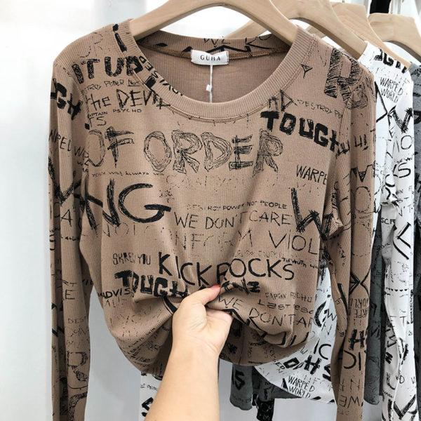 Dámské moderní tričko s dlouhým rukávem Anna