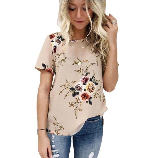 Dámské jarní společenské tričko s krátkým rukávem