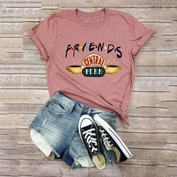 Dámské jednoduché tričko s krátkým rukávem a potiskem Friends
