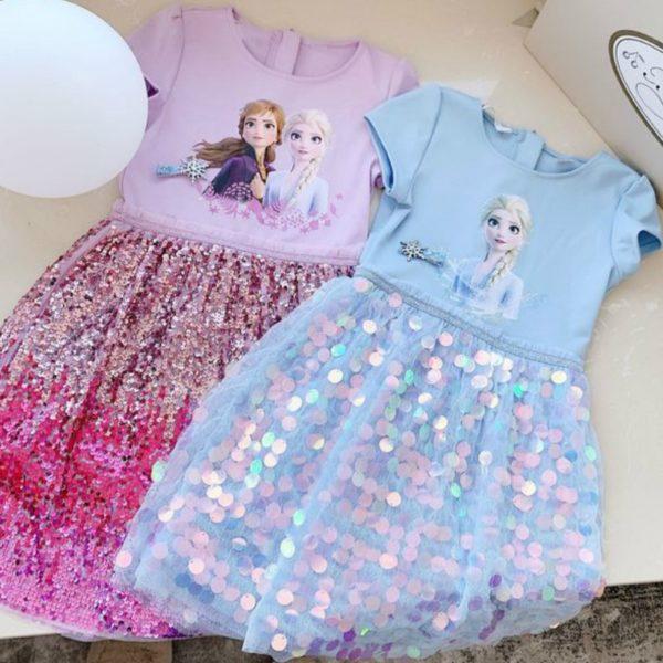 Dívčí šaty - Elsa a Anna