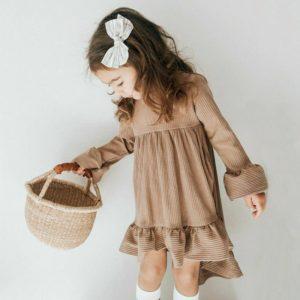 Dívčí letní volánkové šaty