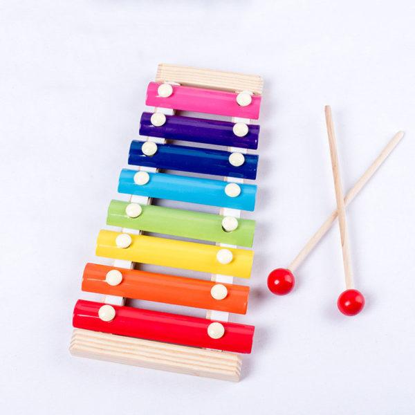 Dětský předškolní vzdělávací dřevěný xylofon