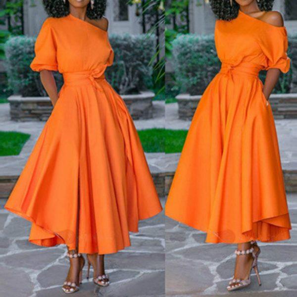 Dámské letní dlouhé neonové šaty
