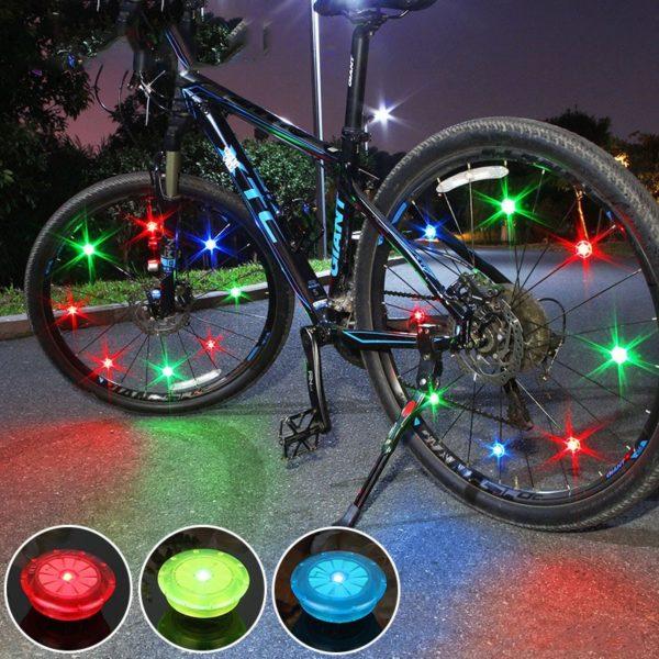 Barevné mini LED světlo na kolo