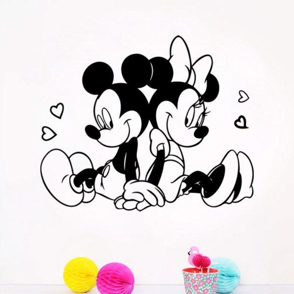 Krásná samolepka na zeď Mickey Mouse