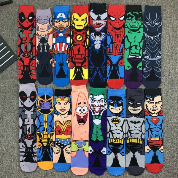 Unisex dlouhé ponožky s akčními hrdiny