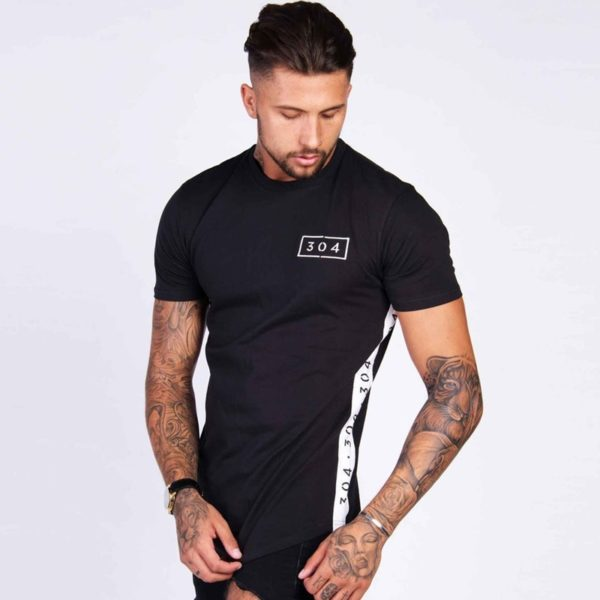 Pánské triko s pruhy po stranách Brand