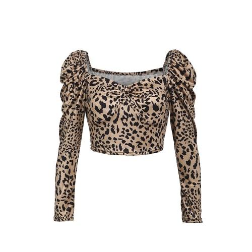 Dámský leopardí crop top Teresa