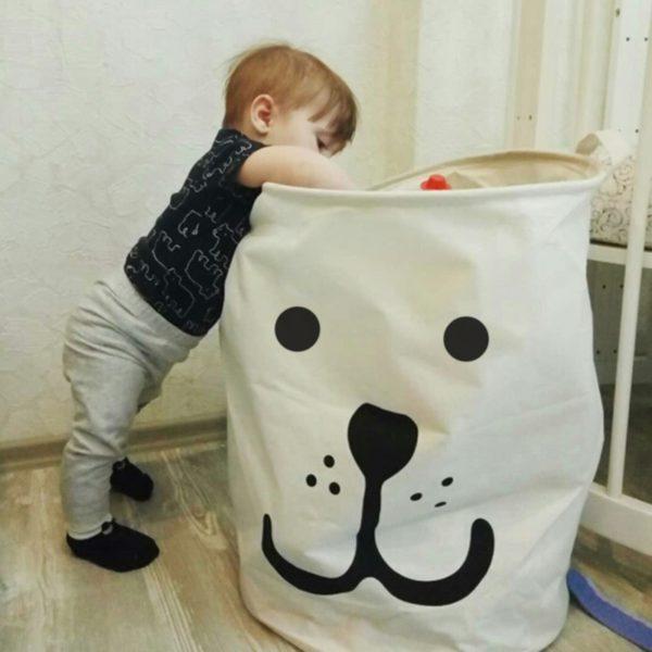 Látkový organizér na špinavé prádlo
