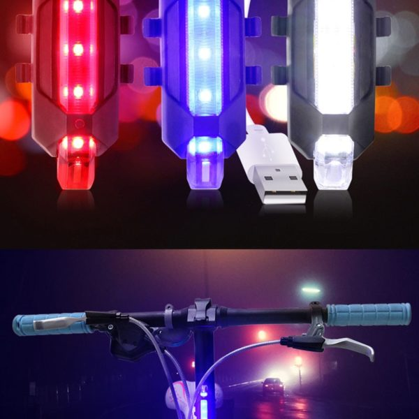 Cyklistické dobíjecí zadní bleskové světlo