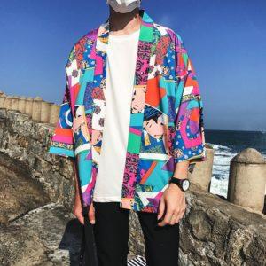 Pánská jarní barevná košile