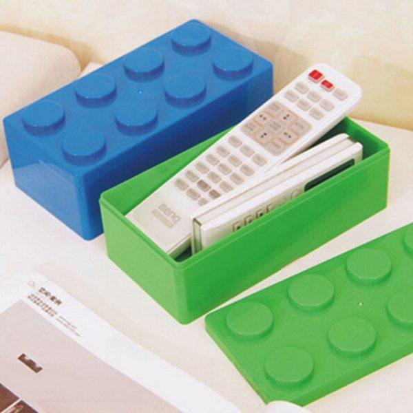 Dětské obdélníkové úložné boxy ve tvaru lega