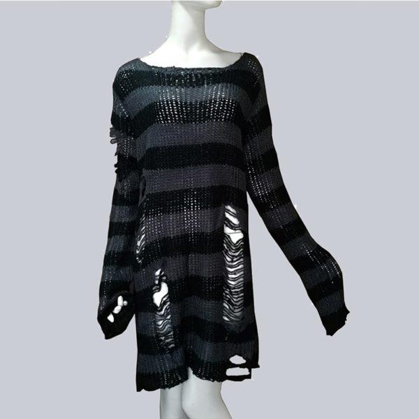 Dámský luxusní trhaný dlouhý svetr Diana