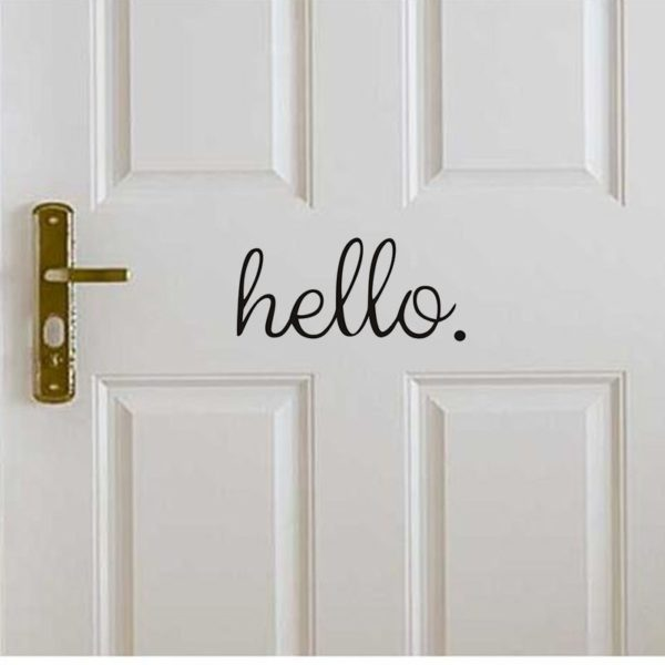 Dekorační samolepka Hello na dveře