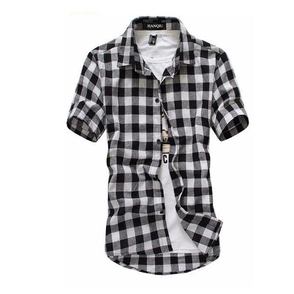 Pánská kostkovaná košile s krátkým rukávem a ve více barvách