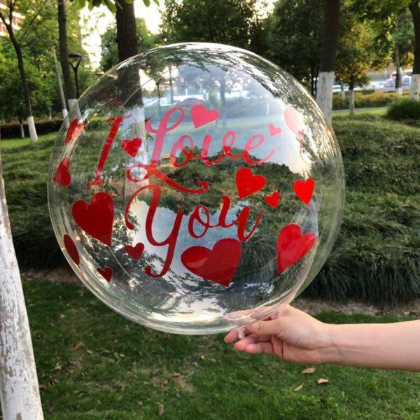 Velké průhledné balónky na dekoraci