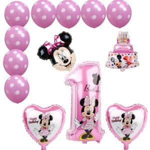 Set balónků Mickey & Minnie k prvním narozeninám 12 ks