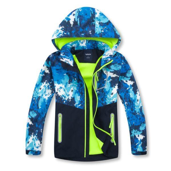 Dětská podzimní stylová bunda s kapucí