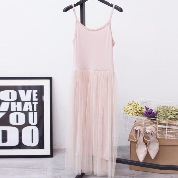 Dámské letní dlouhé šaty s tylovou sukní