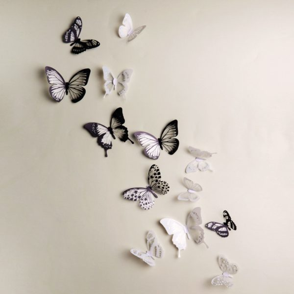 Sada dekorativních 3D nalepovacích motýlů - 18 kusů