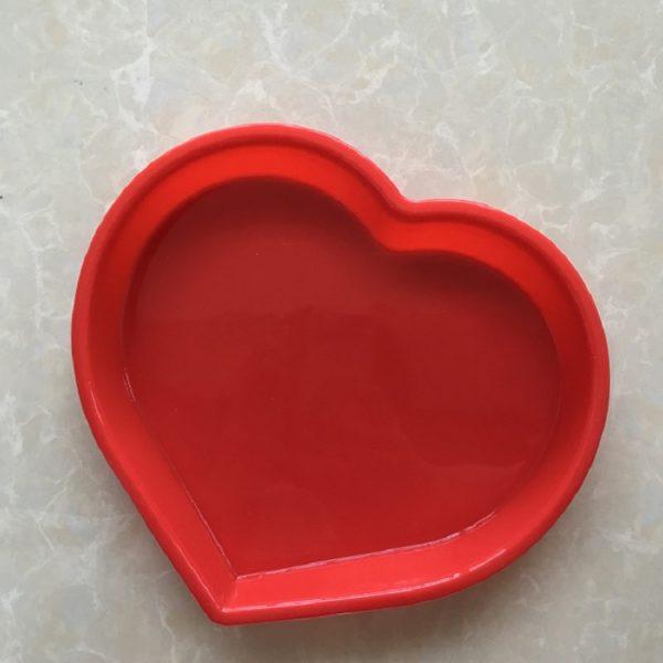 Silikonová forma na pečení ve tvaru srdce