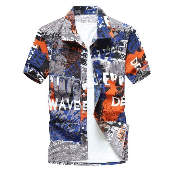 Stylová pánské košile v Havajském stylu