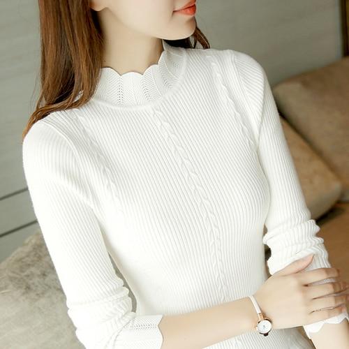 Dámský stylový elastický svetr Hellen