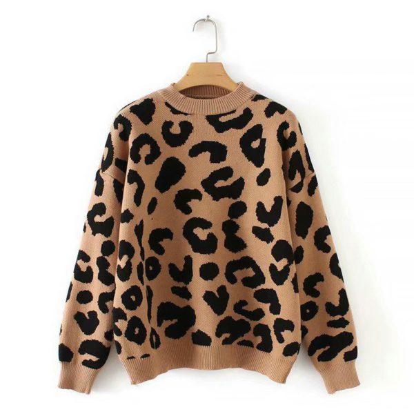 Dámský moderní leopardí svetr Zita
