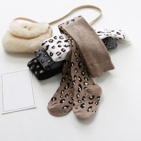 Dívčí jarní leopardí punčocháčky