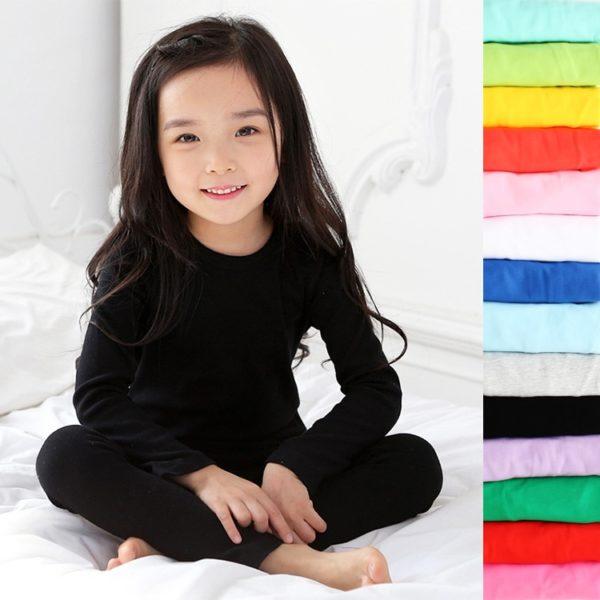 Dětská bavlněná pyžámka v pastelových barvách