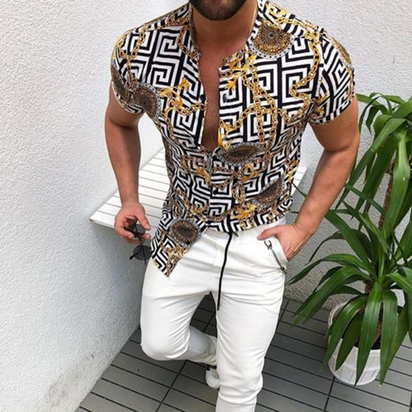 Luxusní pánská košile s krátkým rukávem