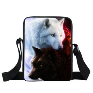 Unisex kabelka s originálním potiskem vlka